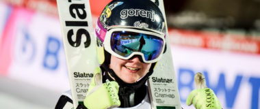 Ema Klinec crowns herself World Champion on the normal hill